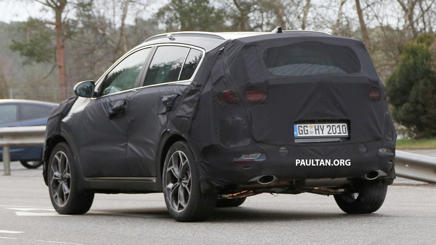 SPIED: Kia Sportage facelift seen near the Nurburgring Image #807780