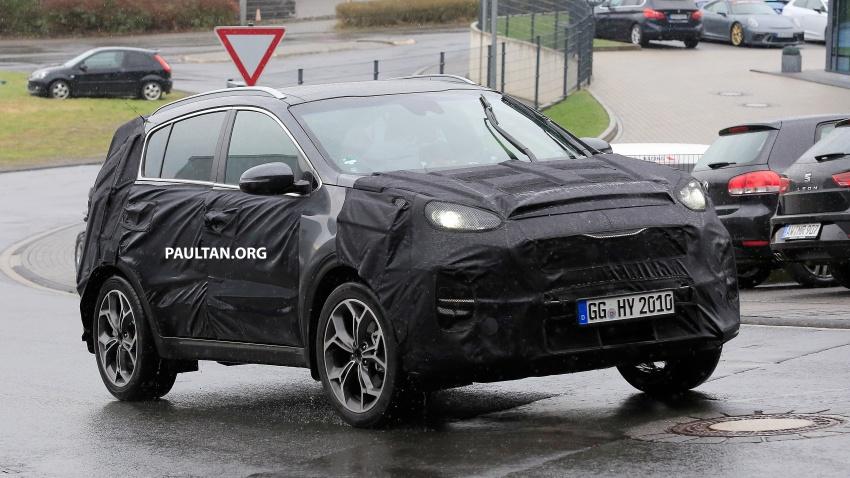 SPIED: Kia Sportage facelift seen near the Nurburgring Image #807789