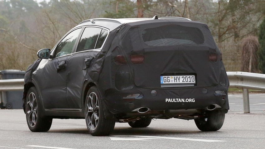 SPIED: Kia Sportage facelift seen near the Nurburgring Image #807781