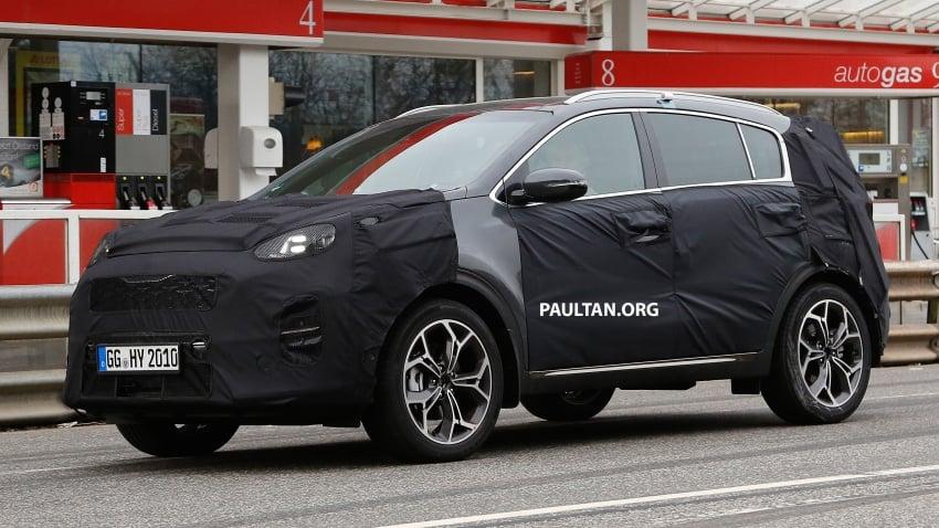 SPIED: Kia Sportage facelift seen near the Nurburgring Image #807784