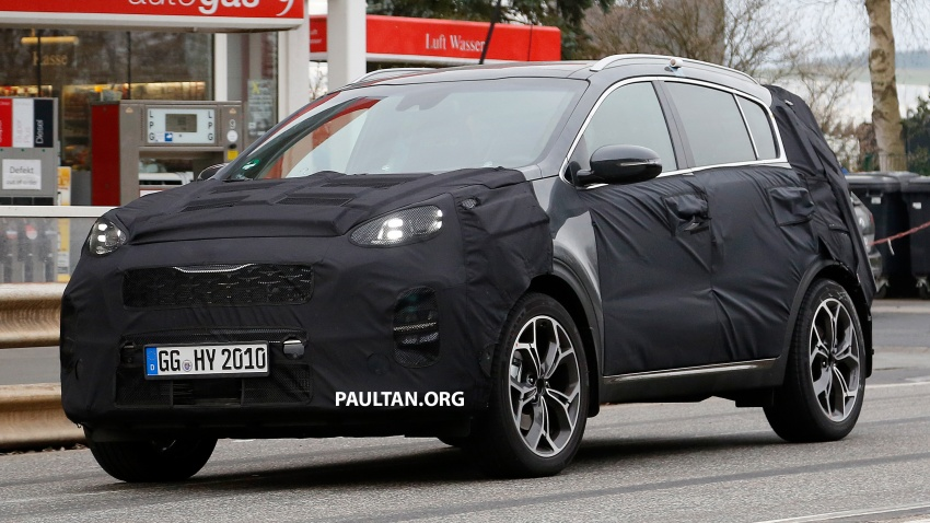 SPIED: Kia Sportage facelift seen near the Nurburgring Image #807785
