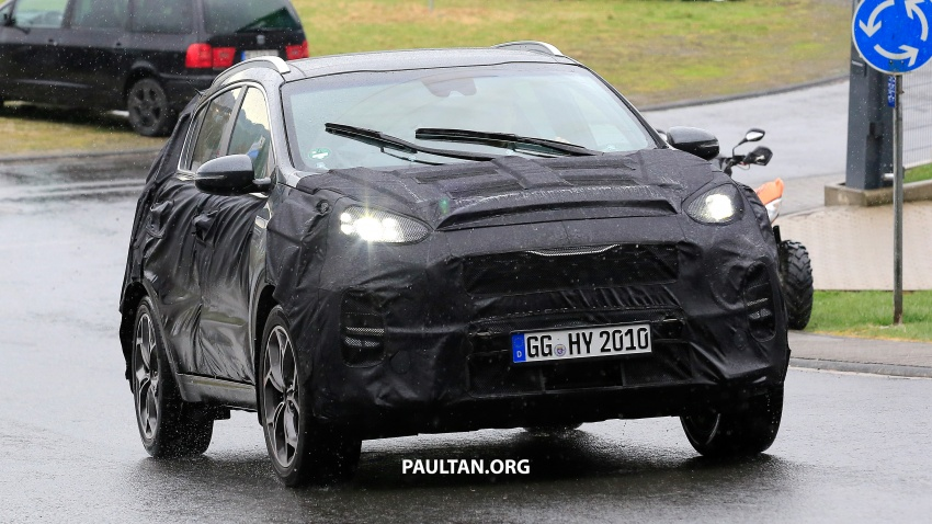 SPIED: Kia Sportage facelift seen near the Nurburgring Image #807788