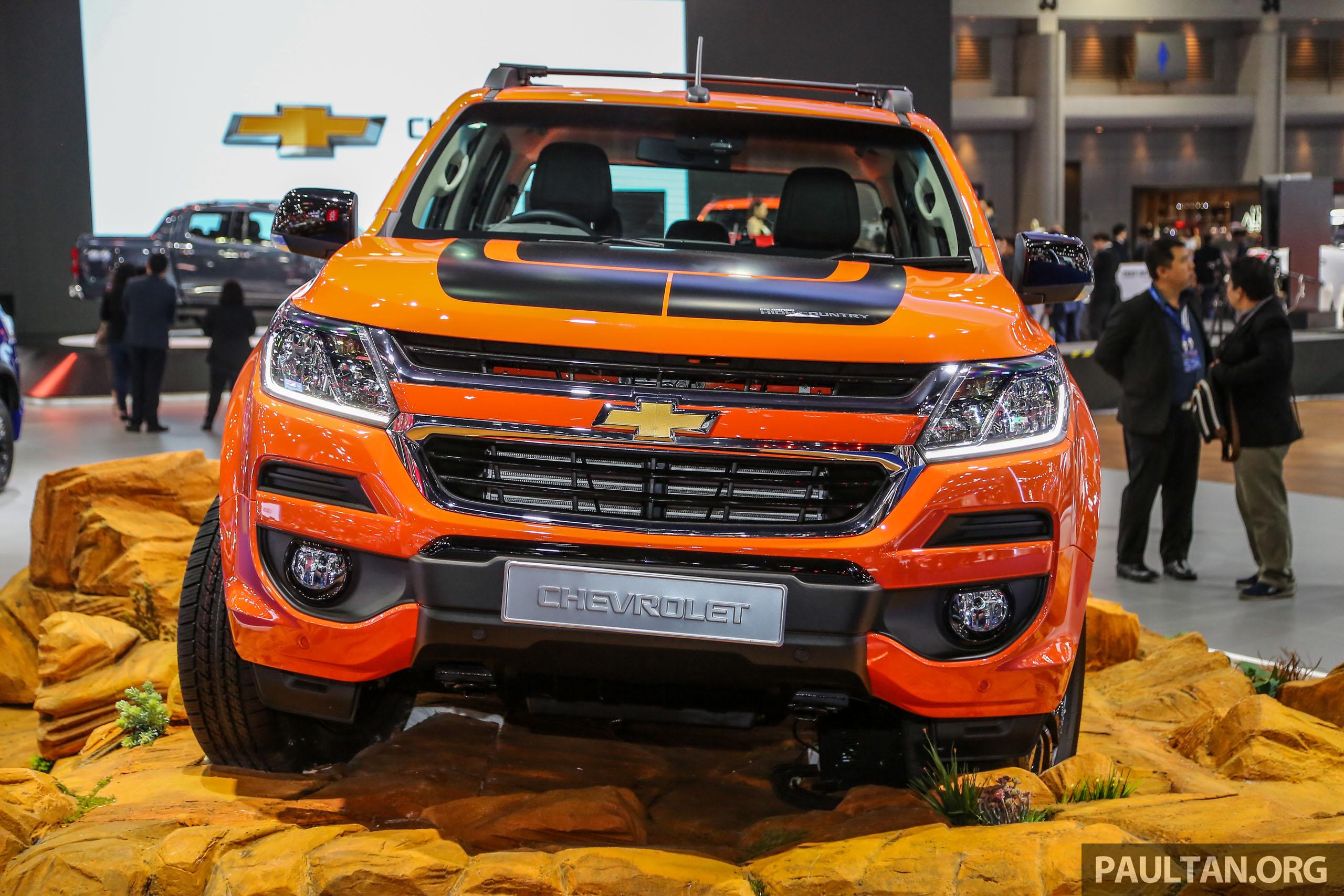 Bangkok 2018: Chevrolet Colorado in Orange Crush Paul Tan ...