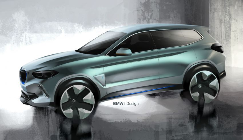 BMW Concept iX3 unveiled at Beijing Motor Show – based on the X3, 268 hp, 400 km all-electric range Image #811079