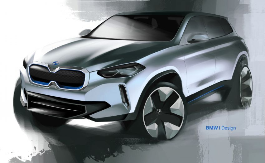 BMW Concept iX3 unveiled at Beijing Motor Show – based on the X3, 268 hp, 400 km all-electric range Image #811081