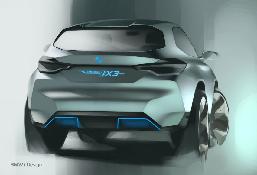 BMW Concept iX3 unveiled at Beijing Motor Show – based on the X3, 268 hp, 400 km all-electric range Image #811082