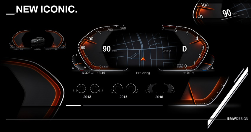 BMW reveals next-gen iDrive, digital instrument cluster Image #807978