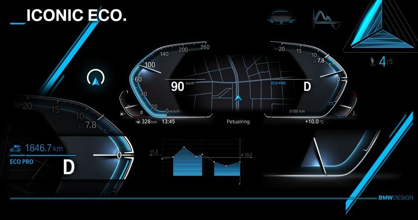 BMW reveals next-gen iDrive, digital instrument cluster Image #807980