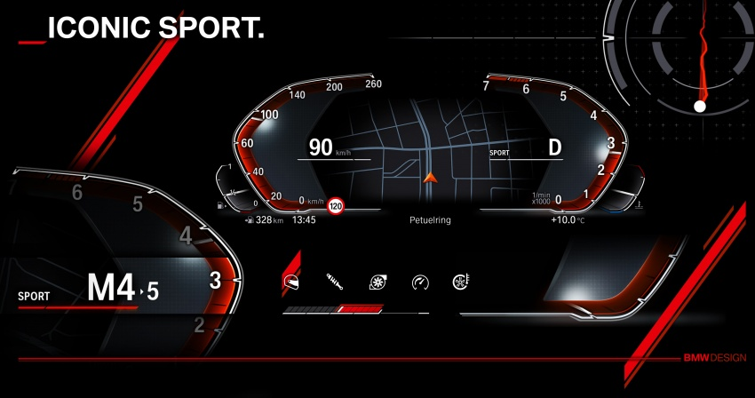 BMW reveals next-gen iDrive, digital instrument cluster Image #807981