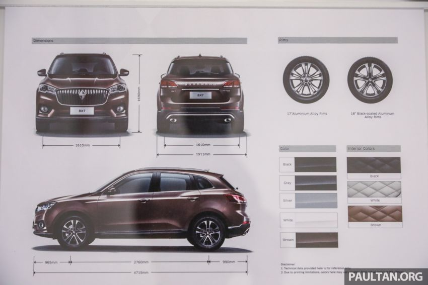Borgward BX5 and BX7 SUVs previewed in Malaysia Image #812970