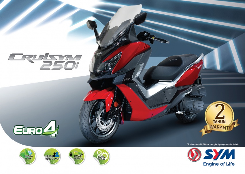 2018 SYM CRUiSYM 250i and Jet 14 scooters launched in Malaysia – priced from RM20,021 and RM7,089 Image #806779