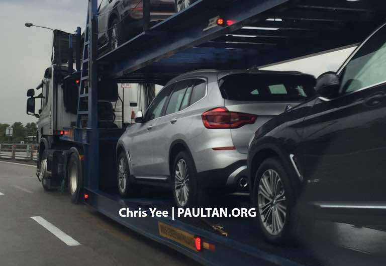 2018 BMW X3 G01 New Spy Shots And Official Release Date >> Spyshots G01 Bmw X3 Spotted On A Trailer In M Sia