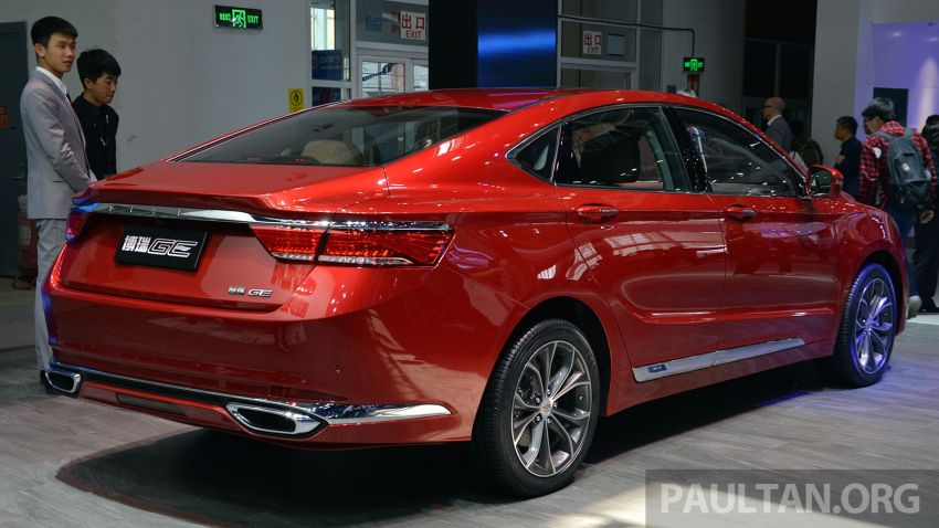 Beijing 2018: Geely Borui GE hybrid variants unveiled – PHEV and MHEV D-segment sedans, 1.5T 7DCT Image #811172