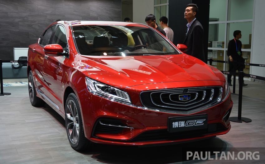Beijing 2018: Geely Borui GE hybrid variants unveiled – PHEV and MHEV D-segment sedans, 1.5T 7DCT Image #810700