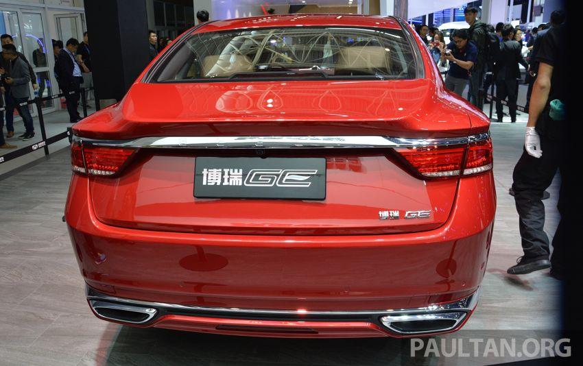 Beijing 2018: Geely Borui GE hybrid variants unveiled – PHEV and MHEV D-segment sedans, 1.5T 7DCT Image #810701