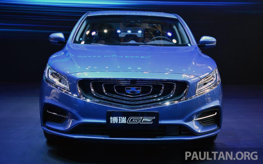 Beijing 2018: Geely Borui GE hybrid variants unveiled – PHEV and MHEV D-segment sedans, 1.5T 7DCT Image #810728