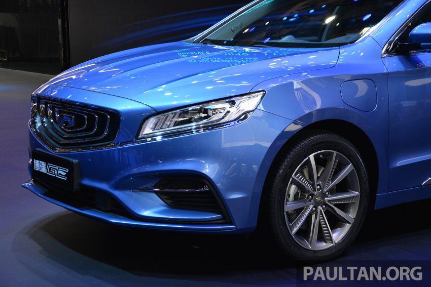 Beijing 2018: Geely Borui GE hybrid variants unveiled – PHEV and MHEV D-segment sedans, 1.5T 7DCT Image #810732
