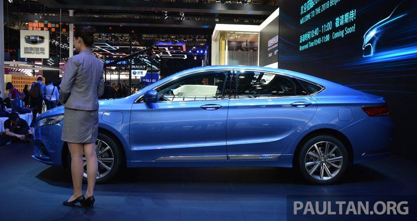 Beijing 2018: Geely Borui GE hybrid variants unveiled – PHEV and MHEV D-segment sedans, 1.5T 7DCT Image #810736