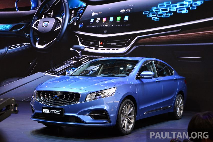 Beijing 2018: Geely Borui GE hybrid variants unveiled – PHEV and MHEV D-segment sedans, 1.5T 7DCT Image #810894