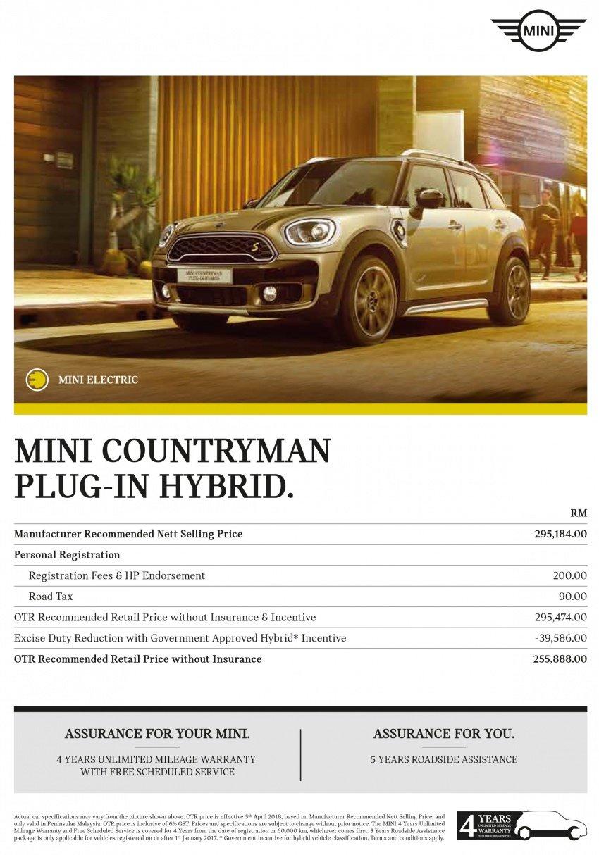 F60 MINI Cooper S E Countryman All4 in Malaysia – 1.5 turbo PHEV, 0-100 in 6.8 sec, 2.1 l/100 km, RM256k Image #802939