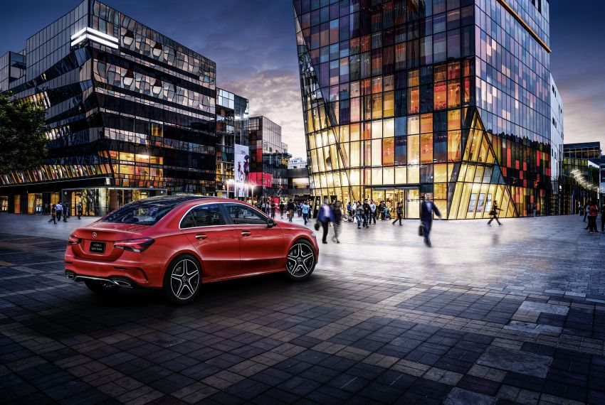 Z177 Mercedes-Benz A-Class L Sedan revealed in Beijing – alternate version for other markets in H2 2018 Image #810554