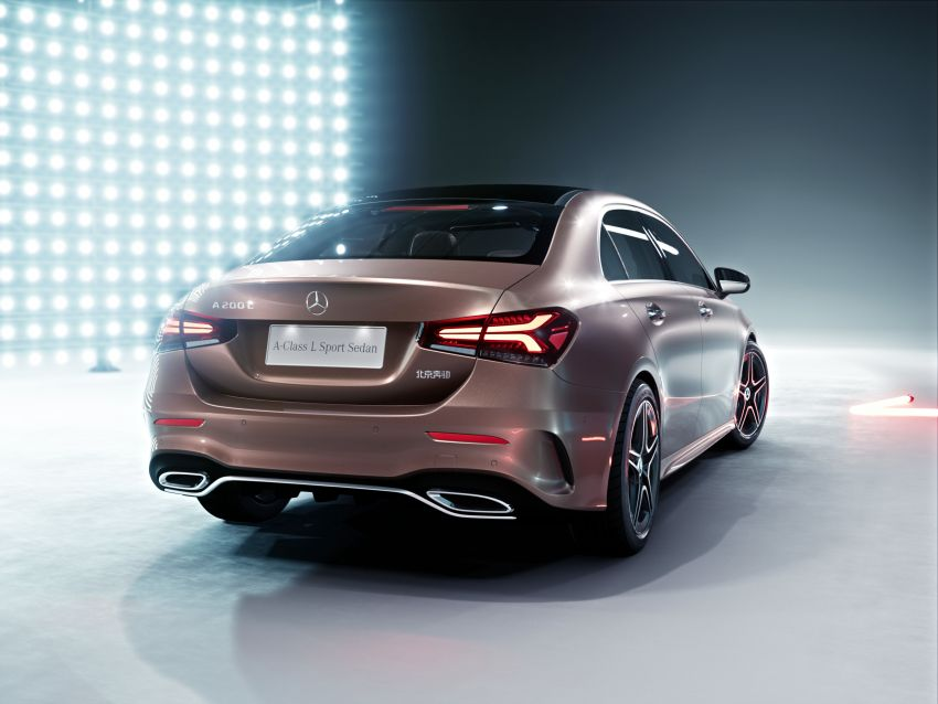 Z177 Mercedes-Benz A-Class L Sedan revealed in Beijing – alternate version for other markets in H2 2018 Image #810563