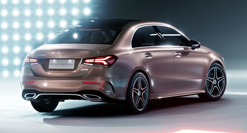 Z177 Mercedes-Benz A-Class L Sedan revealed in Beijing – alternate version for other markets in H2 2018 Image #810564