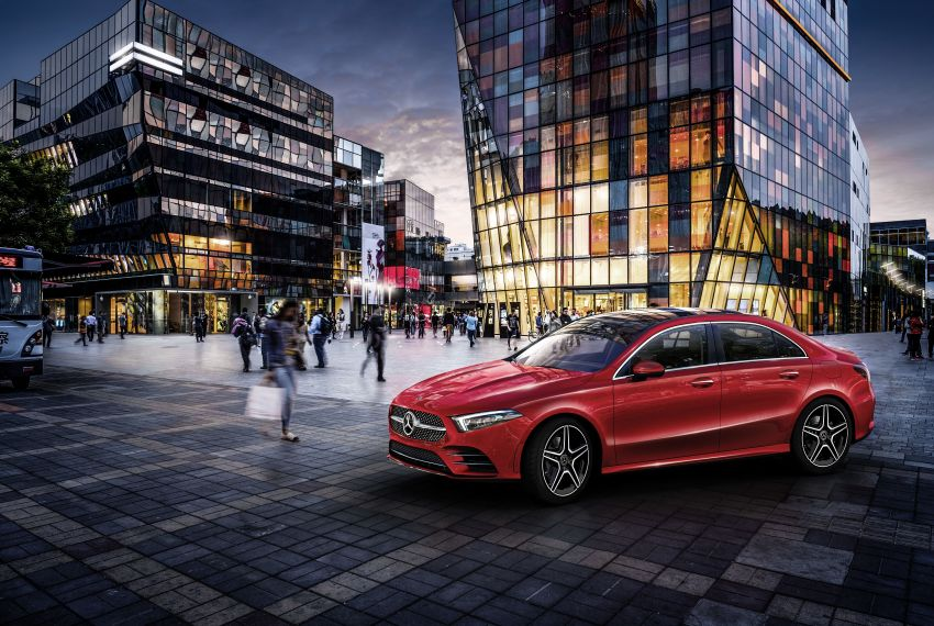 Z177 Mercedes-Benz A-Class L Sedan revealed in Beijing – alternate version for other markets in H2 2018 Image #810555