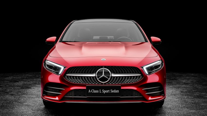 Z177 Mercedes-Benz A-Class L Sedan revealed in Beijing – alternate version for other markets in H2 2018 Image #810558