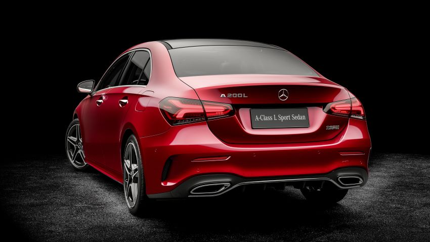 Z177 Mercedes-Benz A-Class L Sedan revealed in Beijing – alternate version for other markets in H2 2018 Image #810559