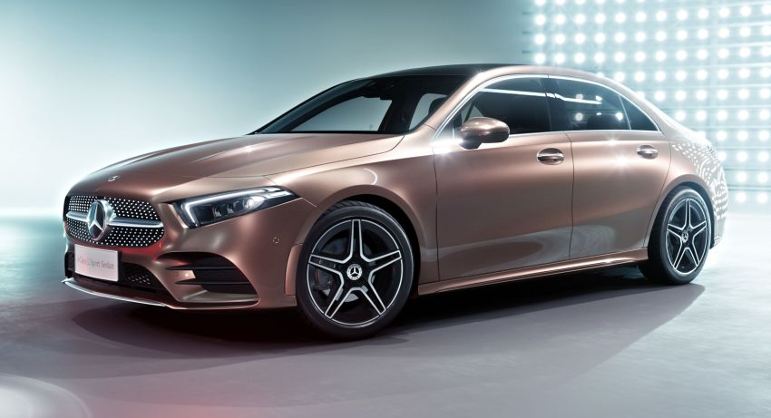 Z177 Mercedes-Benz A-Class L Sedan revealed in Beijing – alternate version for other markets in H2 2018 Image #810560