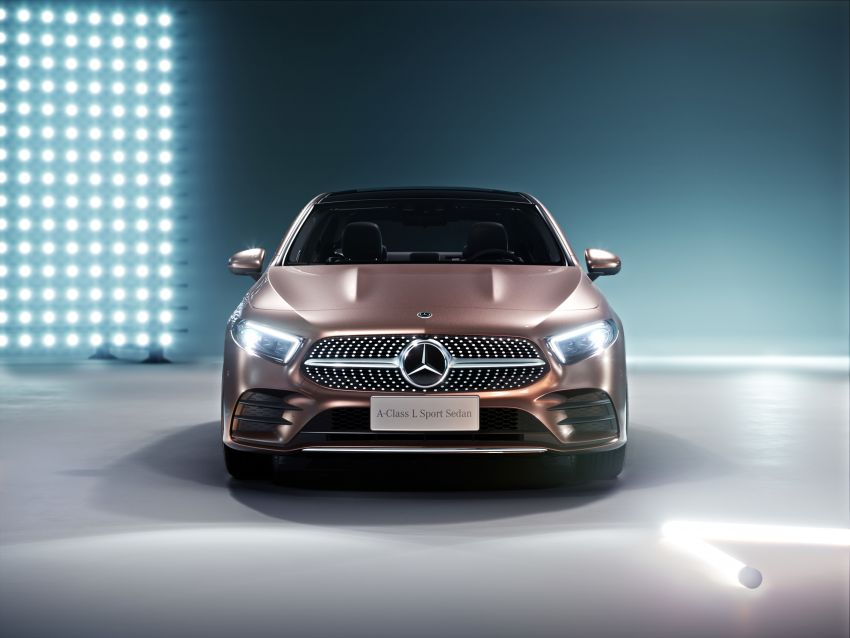 Z177 Mercedes-Benz A-Class L Sedan revealed in Beijing – alternate version for other markets in H2 2018 Image #810562