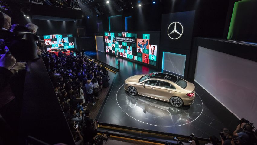 Z177 Mercedes-Benz A-Class L Sedan revealed in Beijing – alternate version for other markets in H2 2018 Image #810576