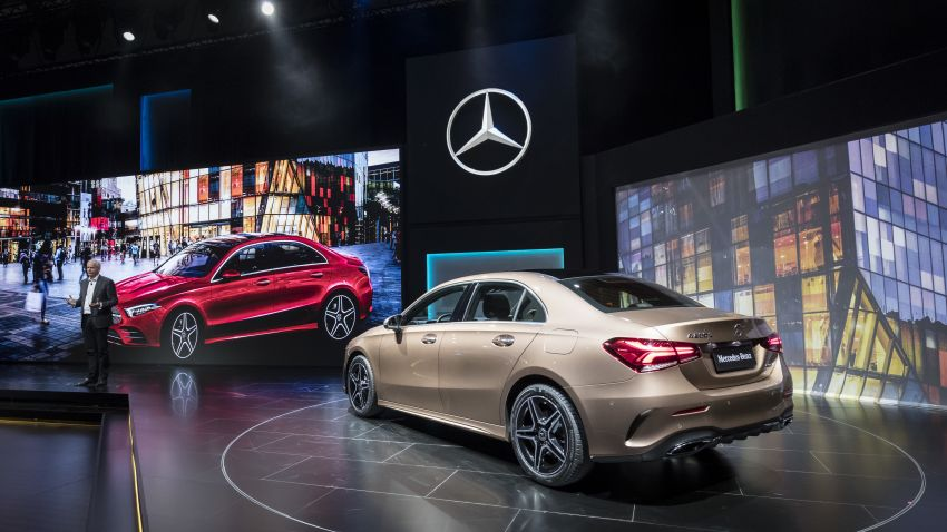 Z177 Mercedes-Benz A-Class L Sedan revealed in Beijing – alternate version for other markets in H2 2018 Image #810577