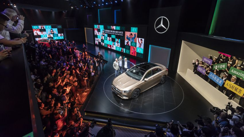 Z177 Mercedes-Benz A-Class L Sedan revealed in Beijing – alternate version for other markets in H2 2018 Image #810579