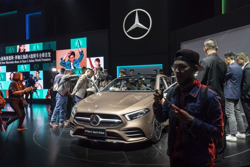 Z177 Mercedes-Benz A-Class L Sedan revealed in Beijing – alternate version for other markets in H2 2018 Image #810584