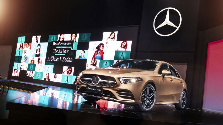 Z177 Mercedes-Benz A-Class L Sedan revealed in Beijing – alternate version for other markets in H2 2018 Image #810598