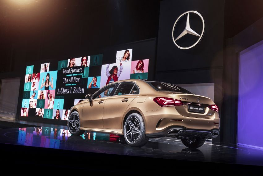 Z177 Mercedes-Benz A-Class L Sedan revealed in Beijing – alternate version for other markets in H2 2018 Image #810599
