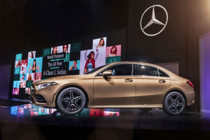 Z177 Mercedes-Benz A-Class L Sedan revealed in Beijing – alternate version for other markets in H2 2018 Image #810600