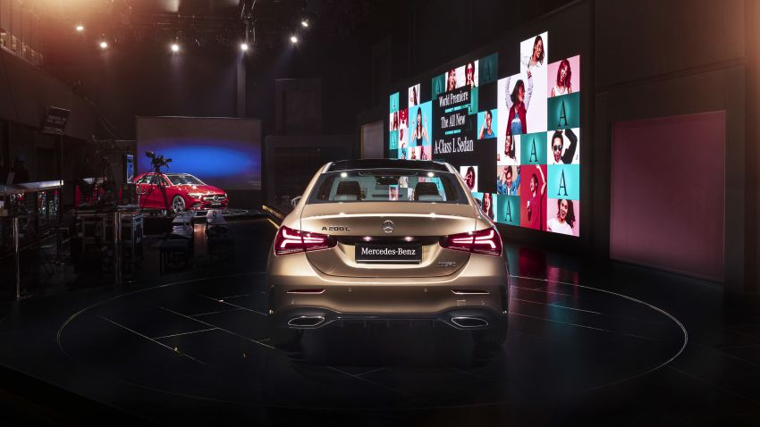 Z177 Mercedes-Benz A-Class L Sedan revealed in Beijing – alternate version for other markets in H2 2018 Image #810601