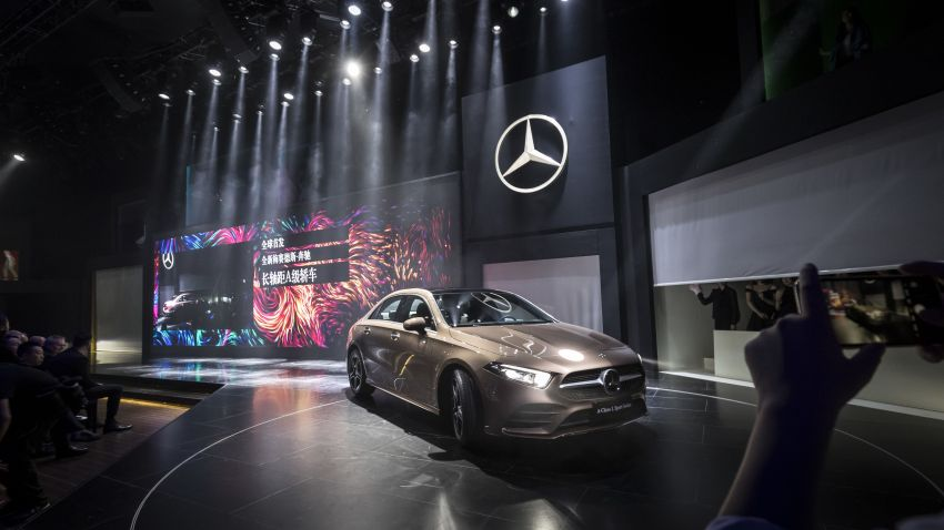 Z177 Mercedes-Benz A-Class L Sedan revealed in Beijing – alternate version for other markets in H2 2018 Image #810575