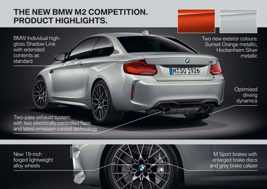 BMW M2 Competition debuts – 410 hp biturbo engine Image #807961