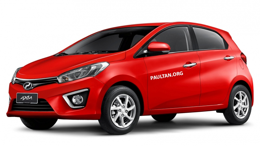 RENDERED: Next-gen Perodua Axia with Myvi styling Image #805473