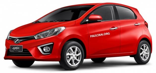Perodua Axia jika dibayangkan sebagai 'mini Myvi'