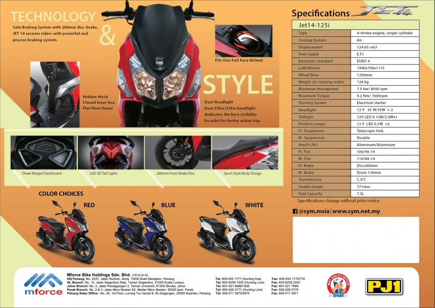 SYM CruiSYM 250i dan Jet 14 tiba di Malaysia – skuter berkapasiti 250 cc dan 125 cc, harga RM20k, RM7k Image #806758