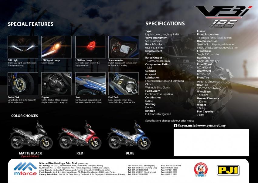 2018 SYM VF3i 183 cc supercub in Malaysia – RM8,467 Image #806724