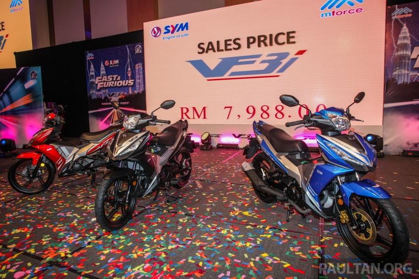 """SYM VF3i – Malaysia negara pertama terima """"kapcai berkapasiti paling tinggi di dunia"""", 183 cc, RM8,467 Image #806834"""
