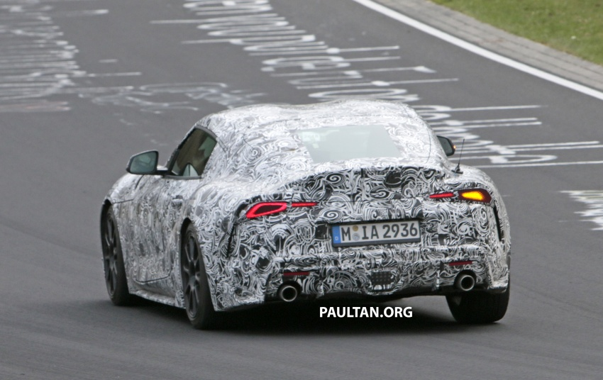 SPYSHOTS: New Toyota Supra gets a digital display Image #805607