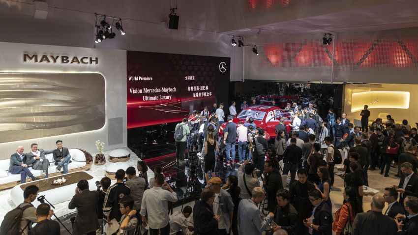 Vision Mercedes-Maybach Ultimate Luxury officially debuts in Beijing – four electric motors, 748 PS output Image #810621