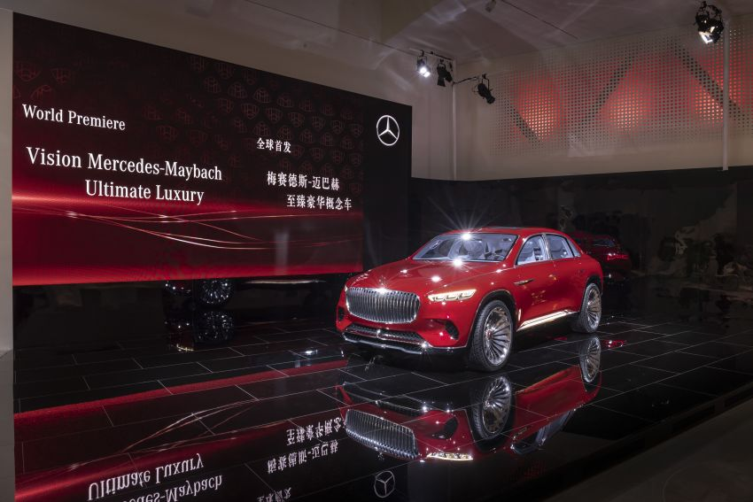 Vision Mercedes-Maybach Ultimate Luxury officially debuts in Beijing – four electric motors, 748 PS output Image #810622
